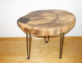 Beistelltisch Couchtisch Tisch Walnuss 48-60-5 cm 50 cm hoch