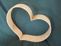 offenes Herz Holzherz aus Zirbenholz