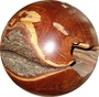 Kugel Holzkugel 41 cm Zwetzschge 2-teilig